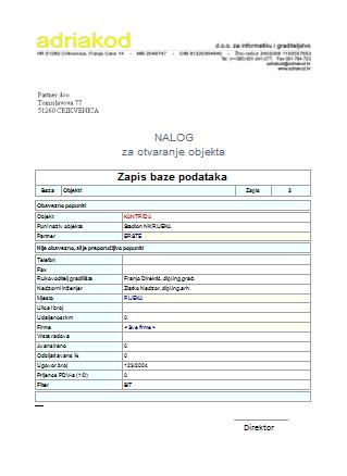 Zapis baze podataka